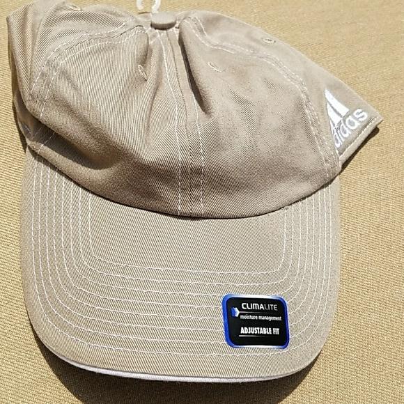 46820457a9e Adidas ClimaLite khaki cap